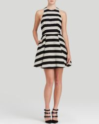 Alice + Olivia Dress - Chase Box Pleat Stripe - Lyst
