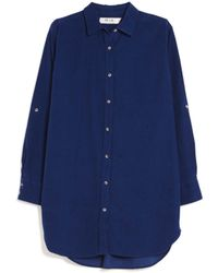MiH Jeans Oversize Corduroy Shirt blue - Lyst