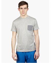 Sunspel Men'S Grey Cotton T-Shirt - Lyst