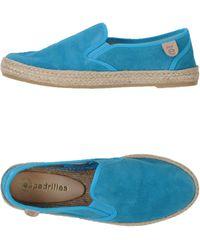 Espadrilles flats loafers blue - Lyst