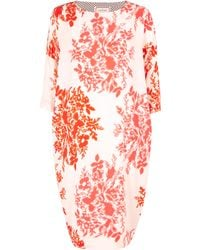 By Malene Birger Rachita Floral Print Silk Dress - Lyst