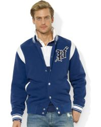 Ralph Lauren Polo Fleece Varsity Jacket - Lyst