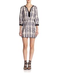 Parker Mallory Printed Silk Dress - Lyst
