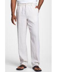 Tommy Bahama 'New Linen On The Beach' Linen Pants beige - Lyst