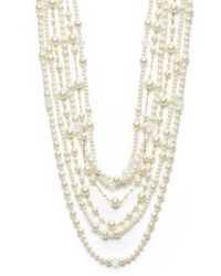 Kenneth Jay Lane Multi-row Mixed Strand Necklace - Lyst