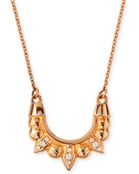 Pamela Love Rose Gold-plated Mini Tribal Spike Necklace - Lyst
