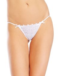 Christies Voyage Lace Thong - Lyst