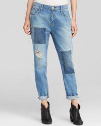 Current/Elliott Jeans - The Fling Boyfriend In Kasey With Repair - Lyst