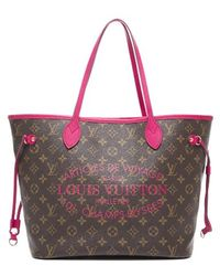 Louis Vuitton Preowned Rose Velours Ikat Neverfull Mm Bag - Lyst