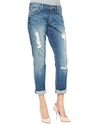 True Religion Audrey Relaxed Distressed Jeans Stoney Point - Lyst