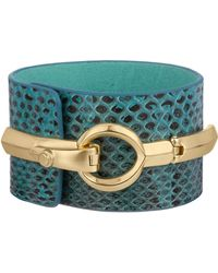 Sam Edelman Whiskey Snake Interlock Bracelet - Lyst