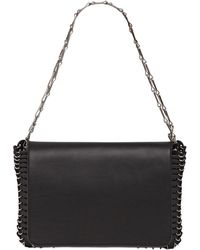 Paco Rabanne Leather Shoulder Bag - Lyst