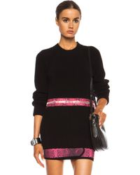 Christopher Kane Chunky Zip Crew Neck Cotton Sweater - Lyst