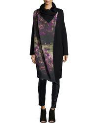 Fuzzi - Floral Wool-Blend Coat - Lyst
