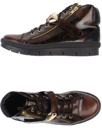 Love Moschino Brown Hightops Trainers - Lyst