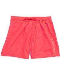 Diesel Logo Swim Shorts pink - Lyst
