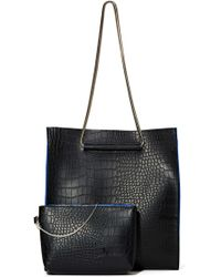 Nasty Gal X Nila Anthony Out Of The Blue Tote - Lyst