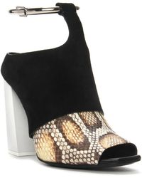 Proenza Schouler Metal Ring Open Toe Python High Heel Metal Ring Open Toe Python High Heel - Lyst