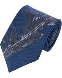 Alexander McQueen Feather-Print Neck Tie - Lyst