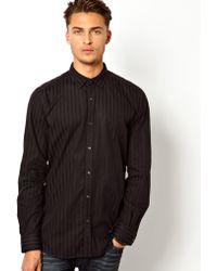 Diesel Shirt Sliko Tonal Stripe - Lyst