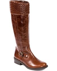 Me Too Dune Leather Knee Boots - Lyst