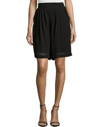 Philosophy - High-waist Pleated Shorts - Lyst