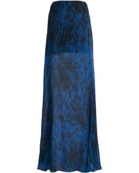 Amanda Wakeley Feather Printed Chiffon Maxi Skirt - Lyst