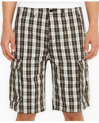 Levi's Ace Plaid Cargo Shorts - Lyst