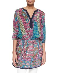 Tolani Patricia Printed Long Tunic - Lyst