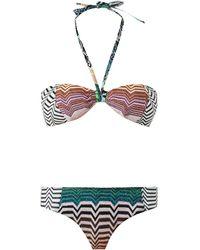 Missoni Mare Reversible Crochet-Knit Bandeau Bikini - Lyst
