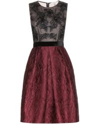 Erdem Karen Embellished Jacquard Dress - Lyst