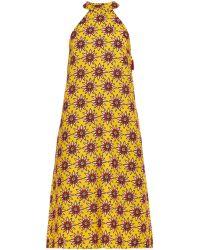 House of Holland Flower Power Crepe Dress - Lyst