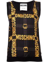 Moschino Buckle Print Tank - Lyst