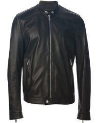 DSquared2 Black Leather Jacket - Lyst