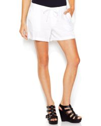 Maison Jules Mid-rise Linen-blend Drawstring Shorts - Lyst