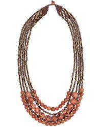 Greenola Style - Pink Bernadette Necklace - Lyst