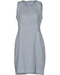 Ermanno Scervino Short Dress blue - Lyst