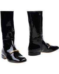Celine Black Boots - Lyst