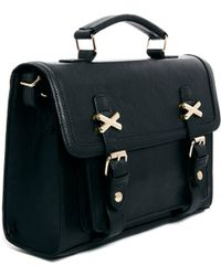 Asos Satchel with Cross Metal Keepers - Lyst