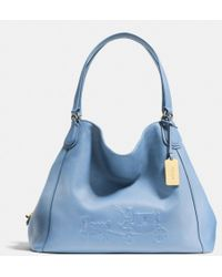 Coach Embossed Horse and Carriage Edie Shoulder Bag in Pebble Leather - Lyst
