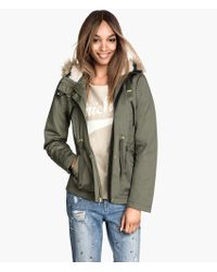 H&M Padded Parka - Lyst