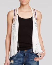 Guess Vest - Fringed Crochet - Lyst