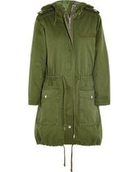 Marc By Marc Jacobs Hooded Cottontwill Parka - Lyst