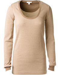 Marc Jacobs Beige Wool Top with Fine Stripes - Lyst
