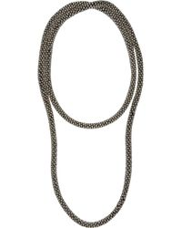 River Island Silver Tone Long Rope Necklace - Lyst