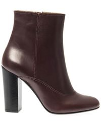 Lanvin Leather Ankle Boots - Lyst