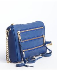 Rebecca Minkoff Electric Blue Leather Mini 5 Zip Crossbody Bag - Lyst