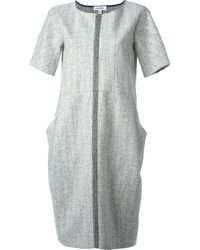 Jil Sander Woven Panel Pocket Dress - Lyst