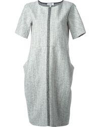 Jil Sander Woven Panel Pocket Dress - Lyst