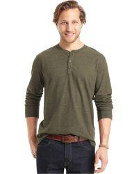 G.H.BASS - Long-sleeve Henley T-shirt - Lyst